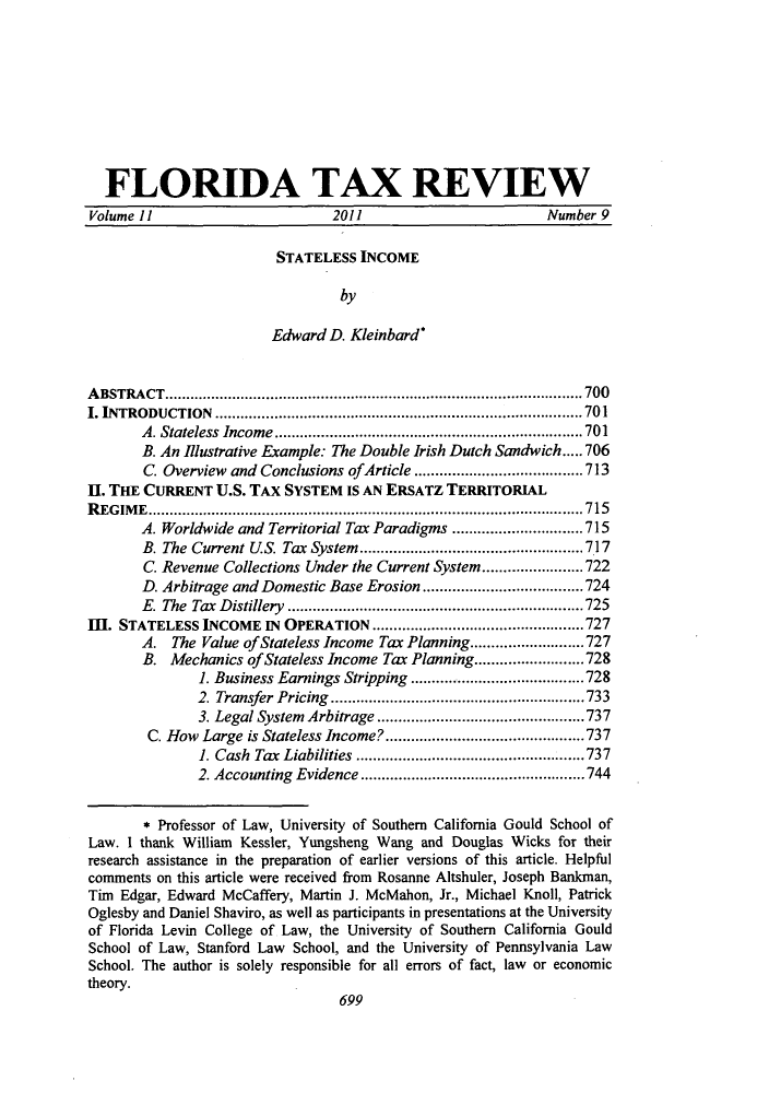 handle is hein.journals/ftaxr11 and id is 561 raw text is: FLORIDA TAX REVIEW