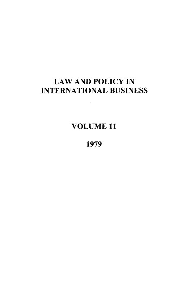 handle is hein.journals/geojintl11 and id is 1 raw text is: LAW AND POLICY IN