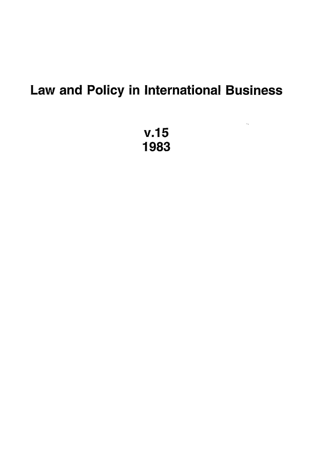 handle is hein.journals/geojintl15 and id is 1 raw text is: Law and Policy in International Business