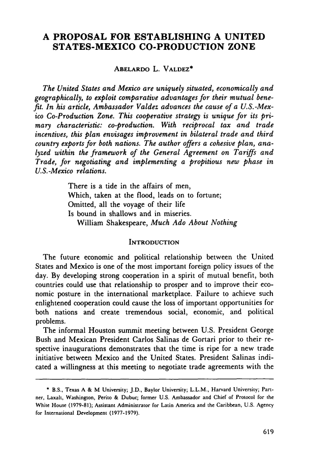 handle is hein.journals/geojintl20 and id is 629 raw text is: A PROPOSAL FOR ESTABLISHING A UNITED