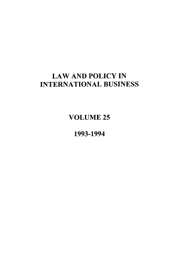 handle is hein.journals/geojintl25 and id is 1 raw text is: LAW AND POLICY IN