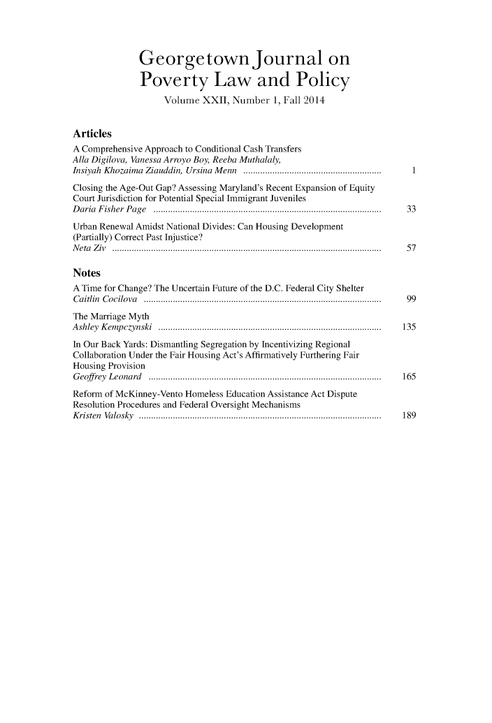 handle is hein.journals/geojpovlp22 and id is 1 raw text is: 