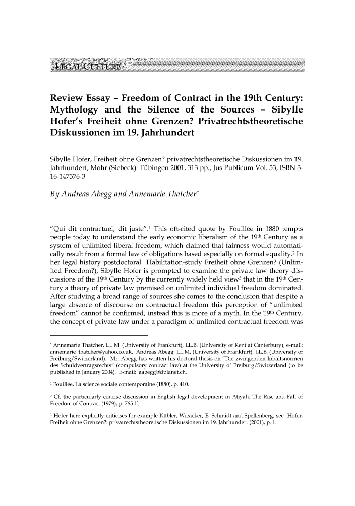 The Fall and Rise of Freedom of Contract | Foundation for Economic