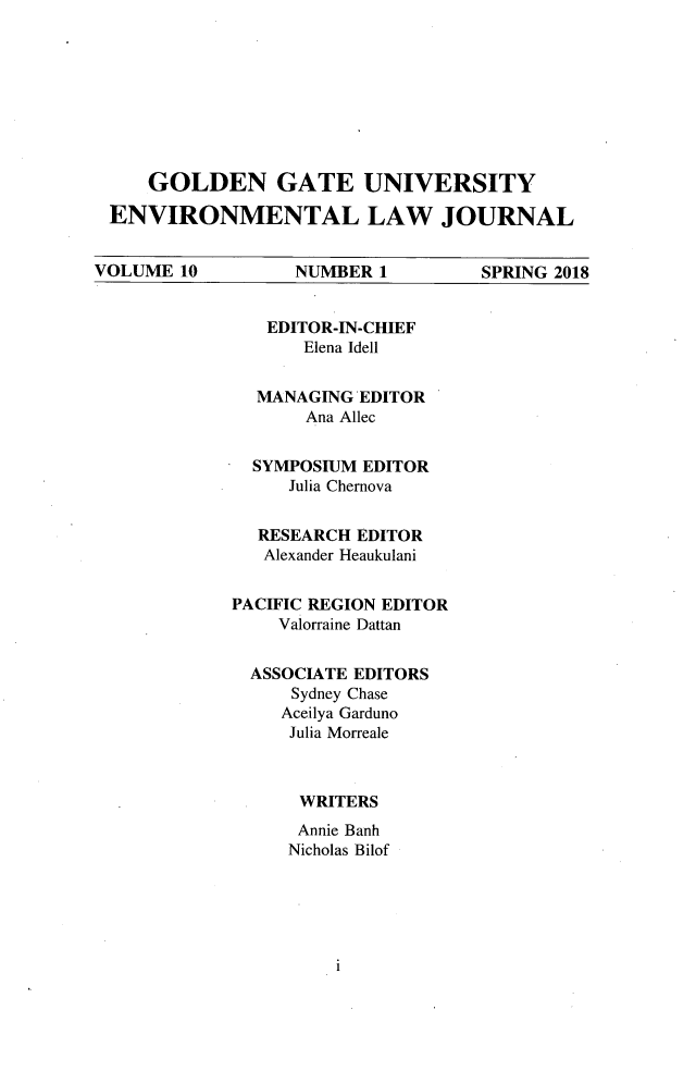 handle is hein.journals/gguelr10 and id is 1 raw text is: 