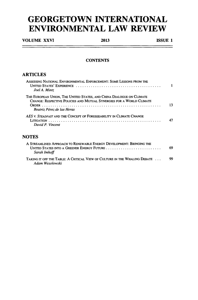handle is hein.journals/gintenlr26 and id is 1 raw text is: GEORGETOWN INTERNATIONAL