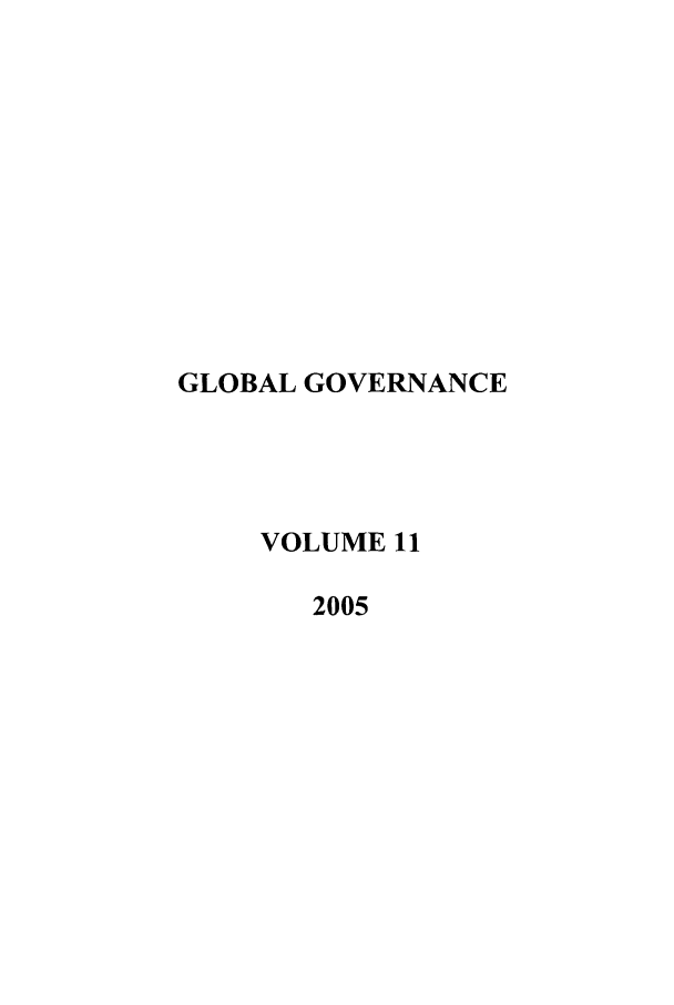 handle is hein.journals/glogo11 and id is 1 raw text is: GLOBAL GOVERNANCE