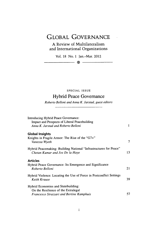 handle is hein.journals/glogo18 and id is 1 raw text is: GLOBAL GOVERNANCE