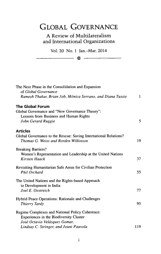 handle is hein.journals/glogo20 and id is 1 raw text is: GLOBAL GOVERNANCE