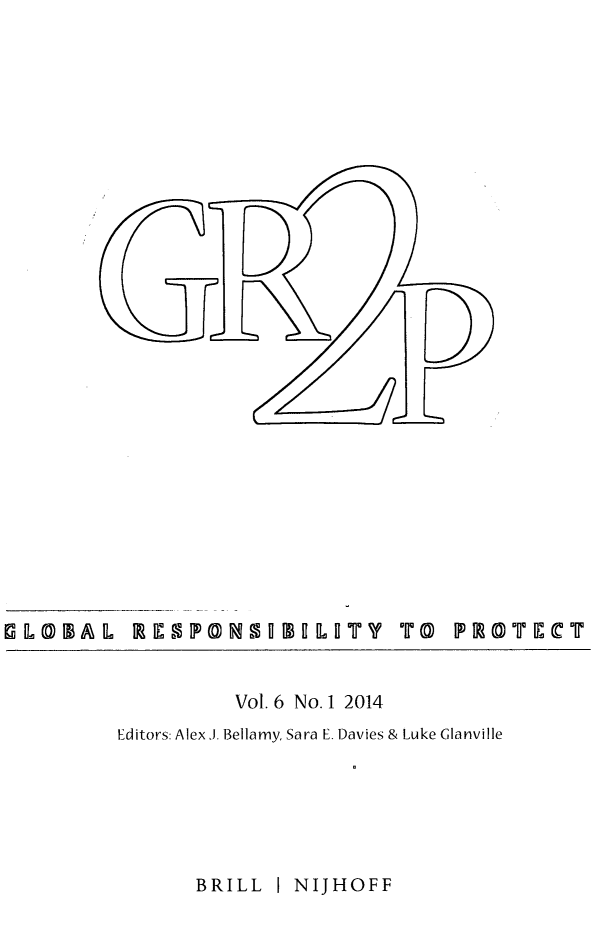handle is hein.journals/gloresp6 and id is 1 raw text is: Vol. 6 No. 1 2014