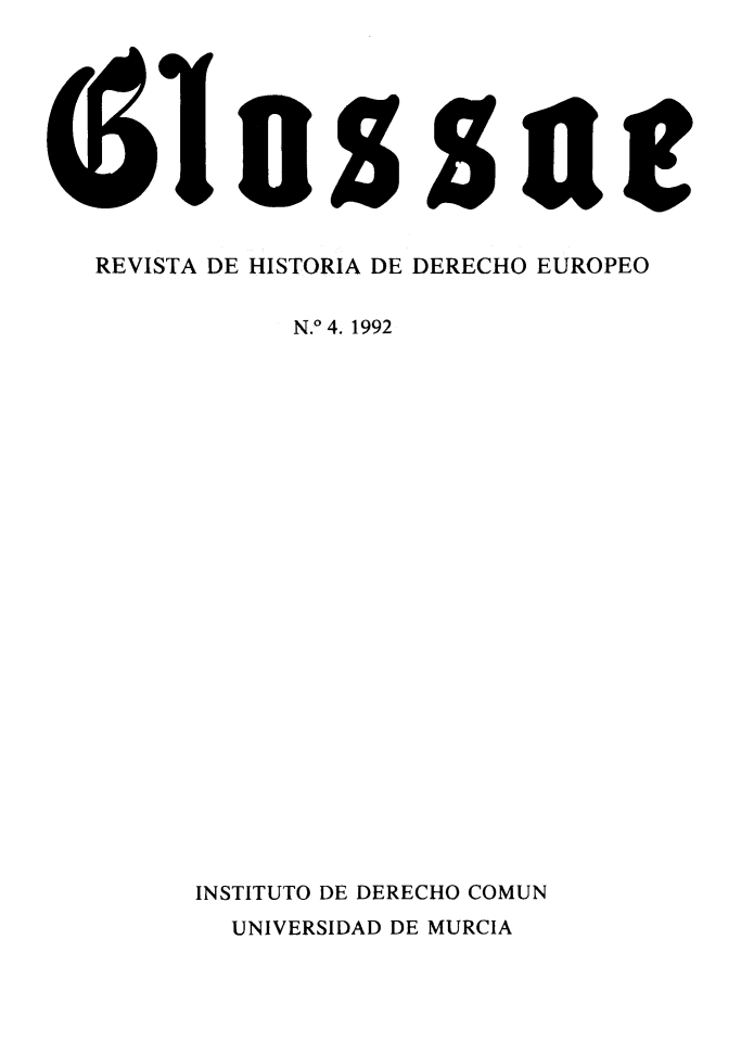 handle is hein.journals/glosse4 and id is 1 raw text is: 