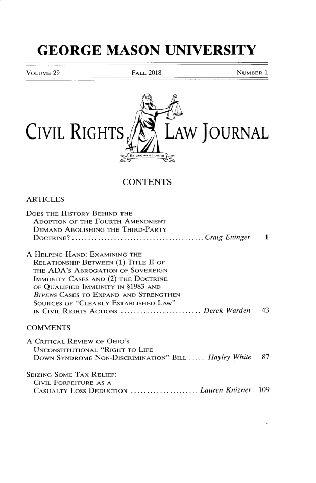 handle is hein.journals/gmcvr29 and id is 1 raw text is: 