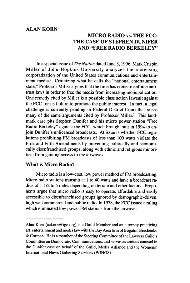 handle is hein.journals/guild53 and id is 218 raw text is: ALAN KORN