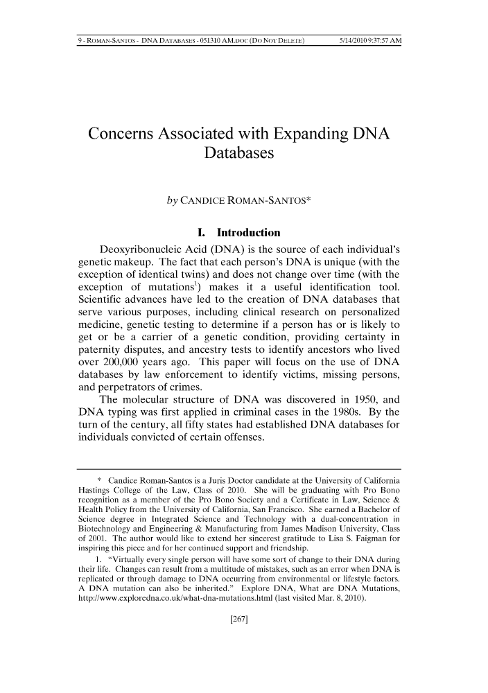handle is hein.journals/hascietlj2 and id is 281 raw text is: 9 ROMAN SAN1o~ DNA DA1A13AsI~s 051310 AM.Do (Do Nol DLLLIL) 5 1420109:37:57 AM