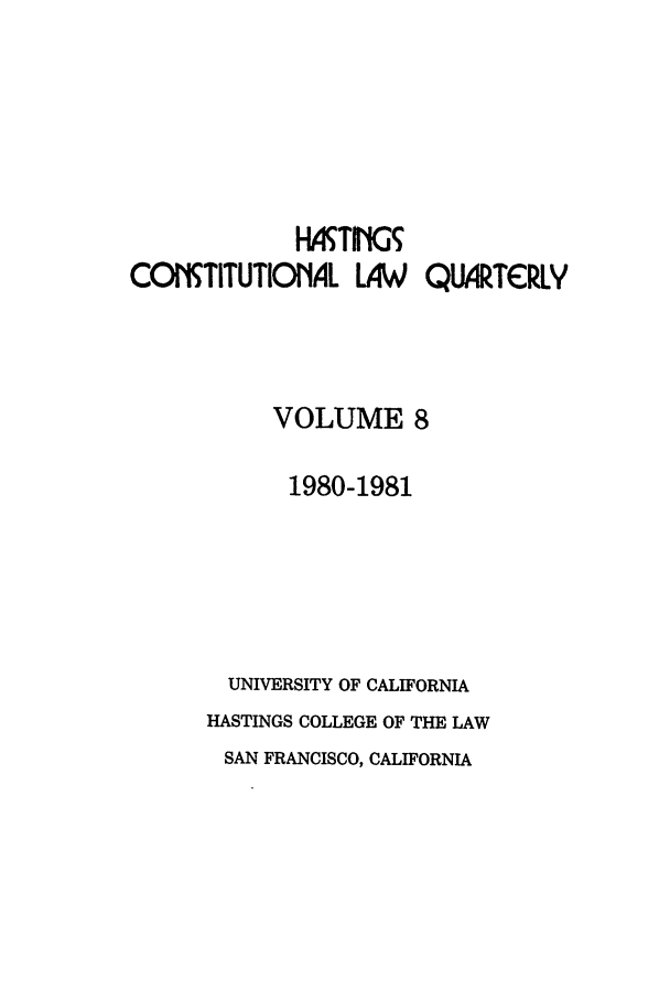 handle is hein.journals/hascq8 and id is 1 raw text is: HATING