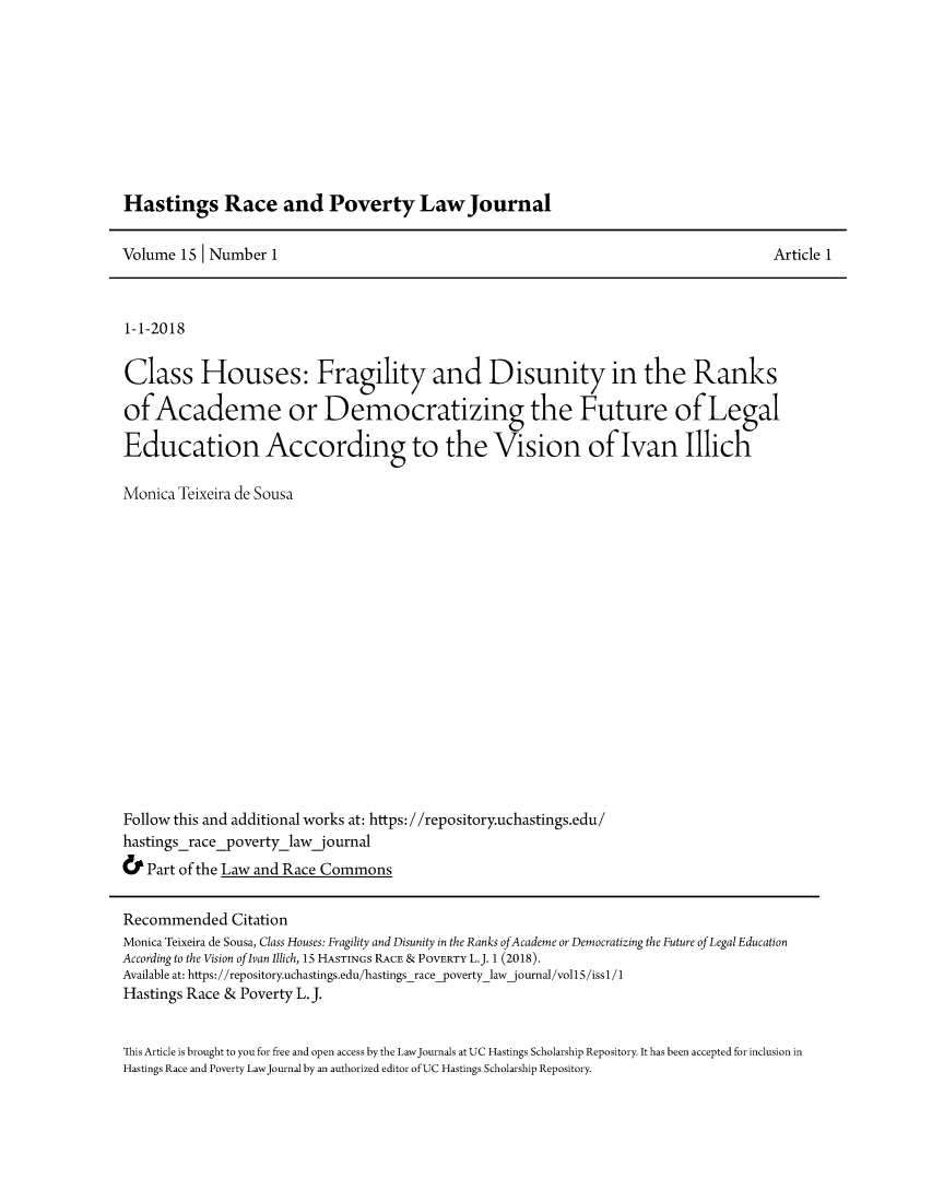 handle is hein.journals/hasrapo15 and id is 1 raw text is: 