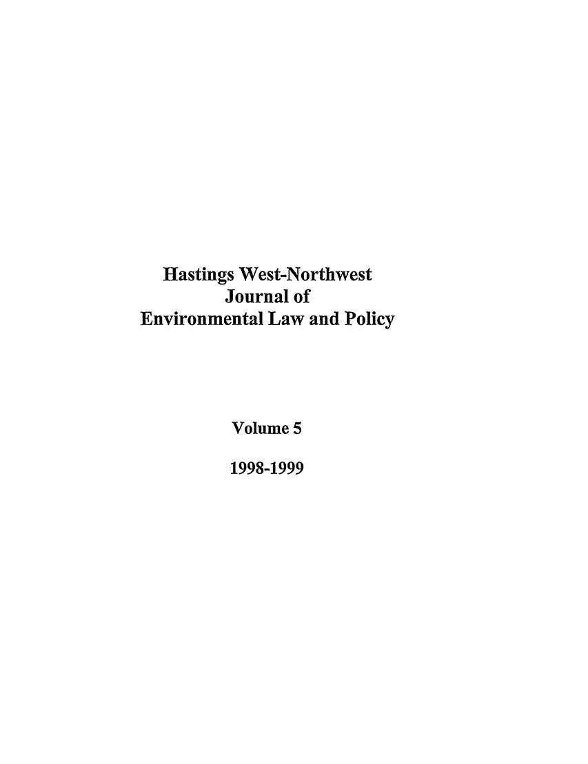 handle is hein.journals/haswnw5 and id is 1 raw text is: Hastings West-Northwest