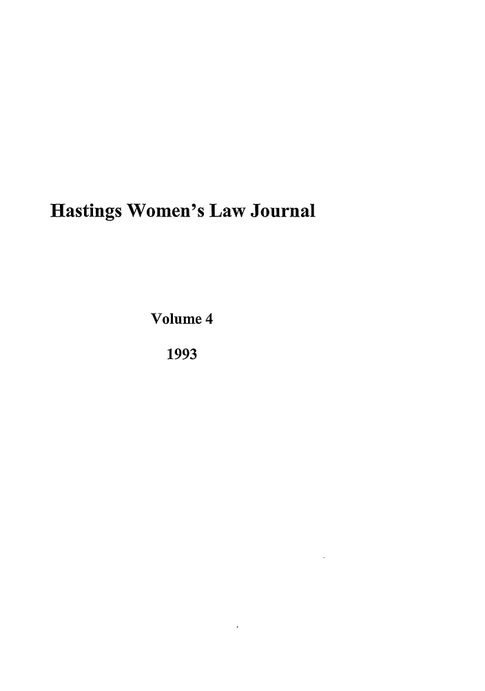 handle is hein.journals/haswo4 and id is 1 raw text is: Hastings Women's Law Journal