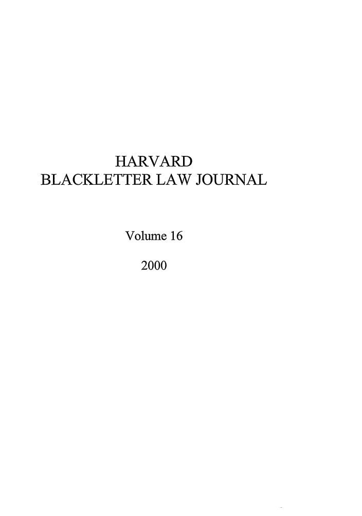 handle is hein.journals/hblj16 and id is 1 raw text is: HARVARD