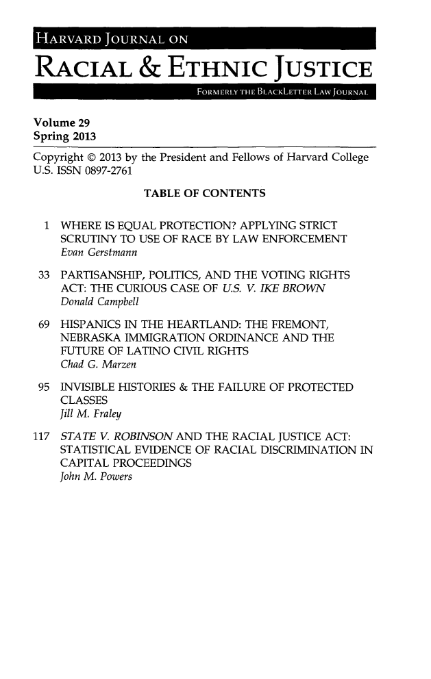 handle is hein.journals/hblj29 and id is 1 raw text is: HARVAD JORA         ON•