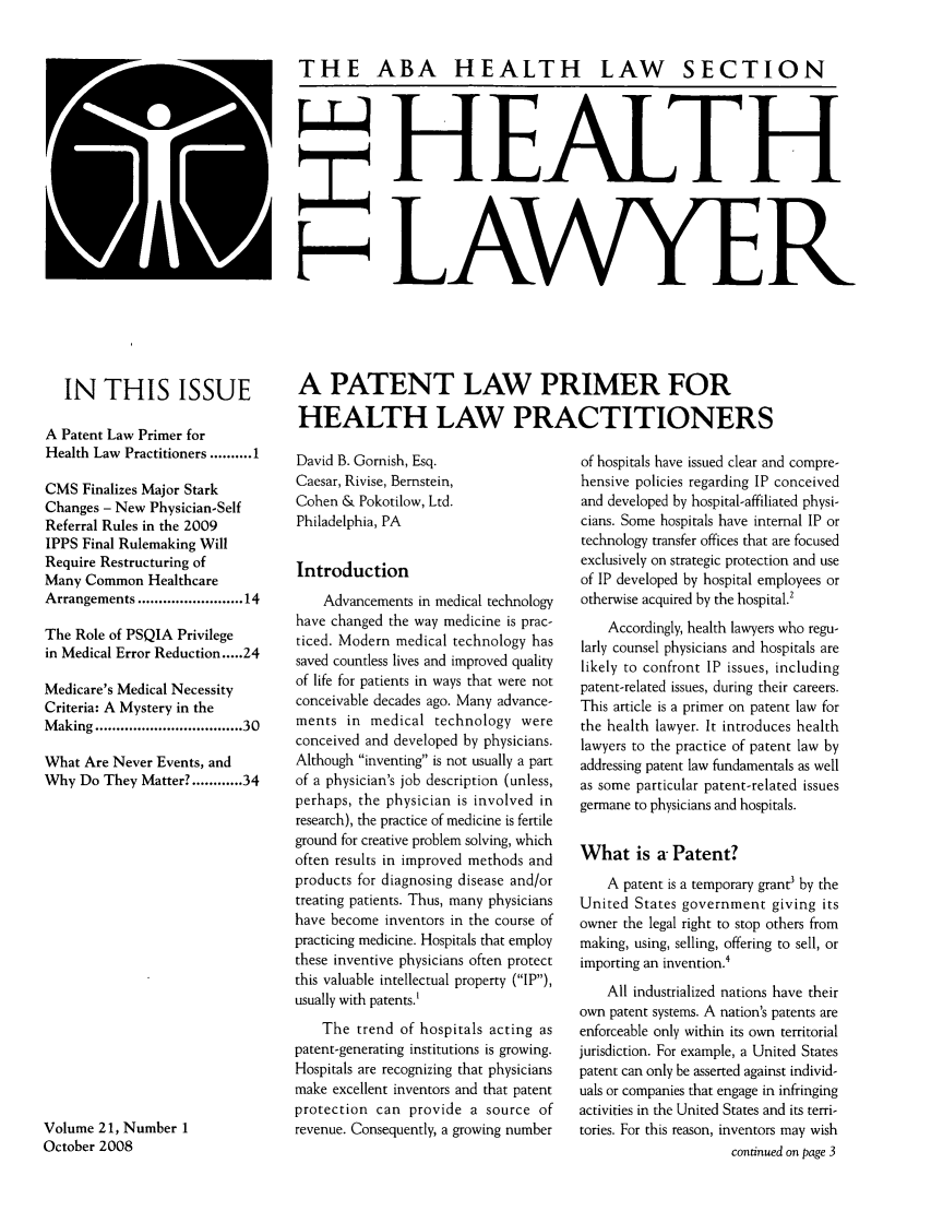 handle is hein.journals/healaw21 and id is 1 raw text is: 