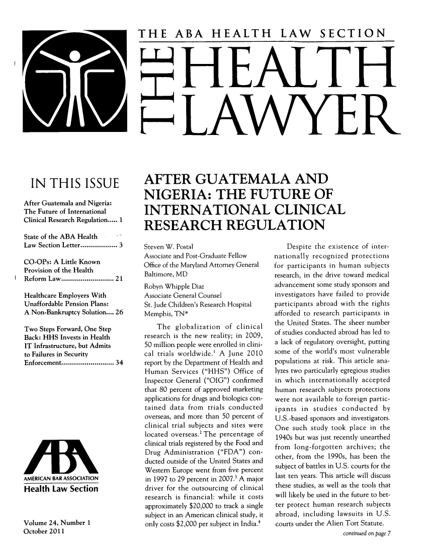 handle is hein.journals/healaw24 and id is 1 raw text is: IN THIS ISSUE