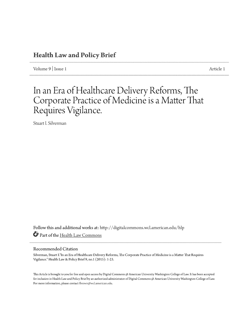handle is hein.journals/heallaw9 and id is 1 raw text is: 