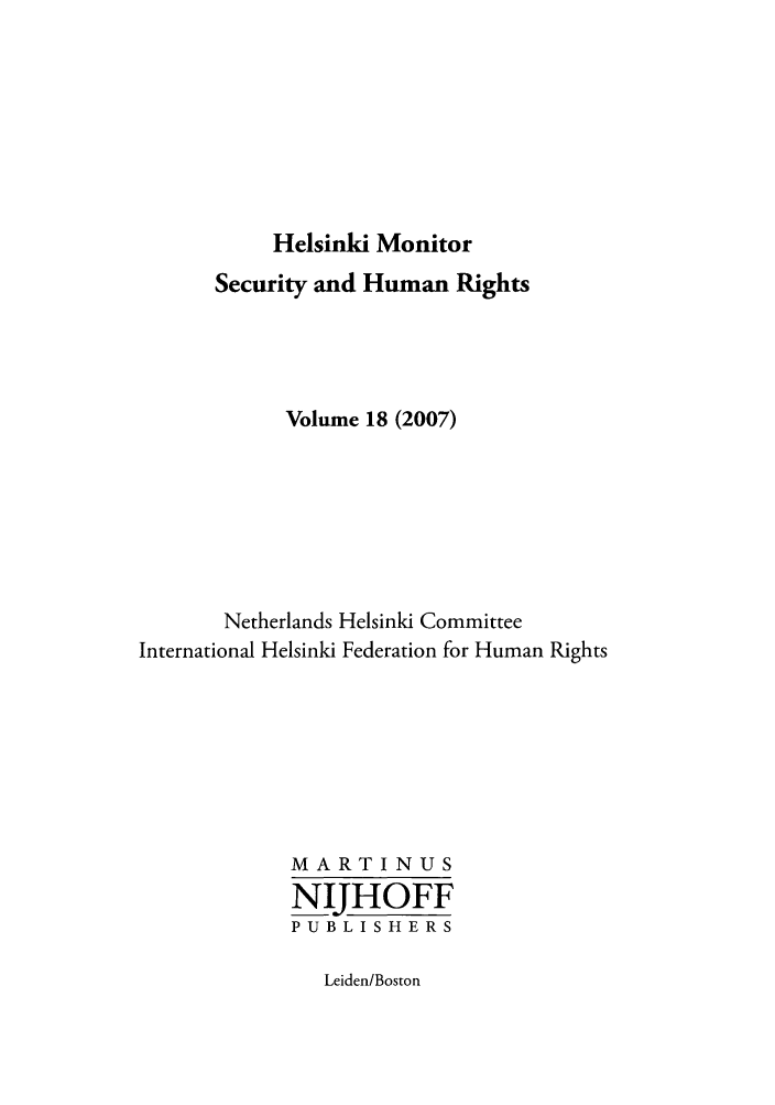 handle is hein.journals/helsnk18 and id is 1 raw text is: Helsinki Monitor