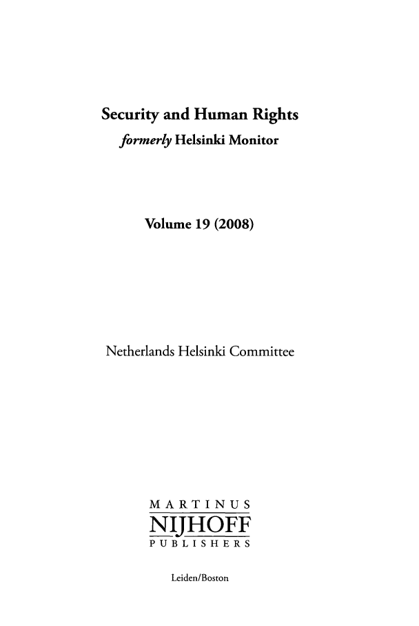 handle is hein.journals/helsnk19 and id is 1 raw text is: Security and Human Rights