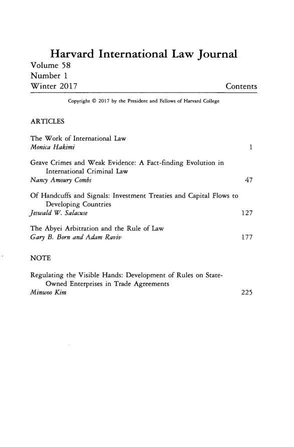 handle is hein.journals/hilj58 and id is 1 raw text is: 