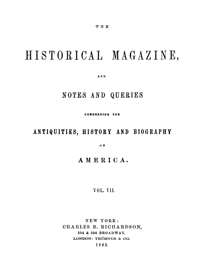 handle is hein.journals/hismagno7 and id is 1 raw text is: T H E