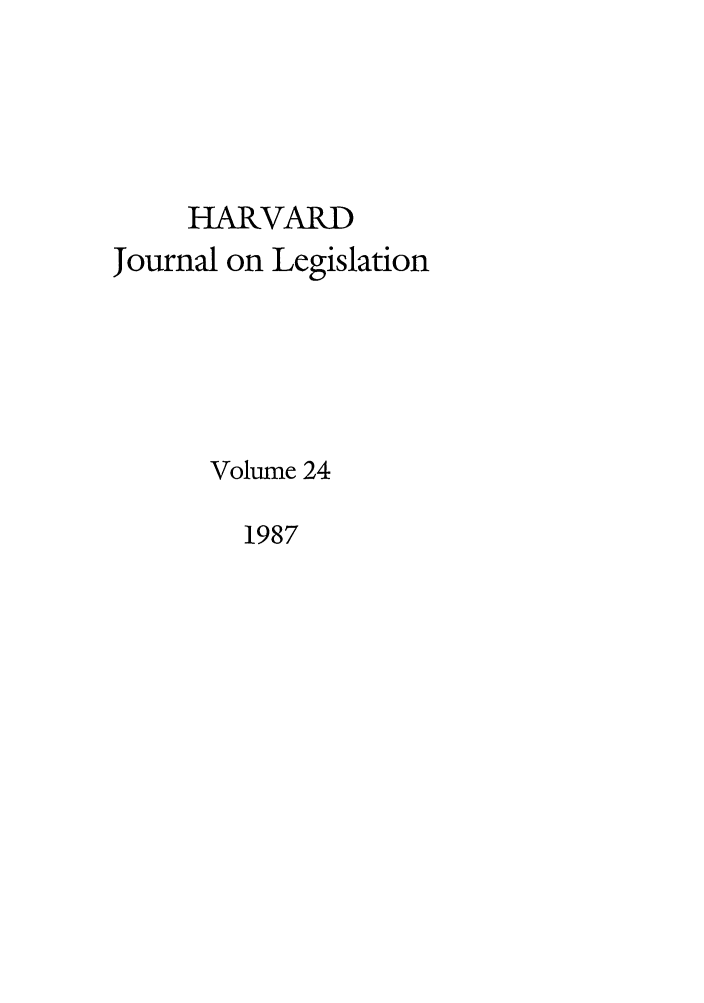 handle is hein.journals/hjl24 and id is 1 raw text is: HARVARD