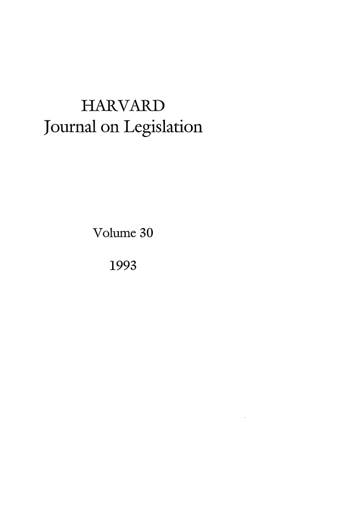 handle is hein.journals/hjl30 and id is 1 raw text is: HARVARD
