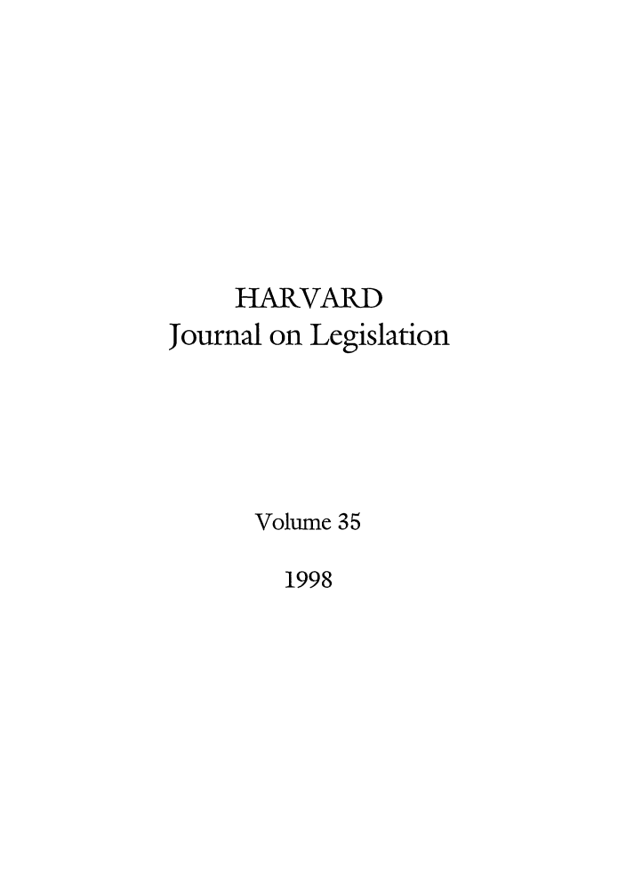 handle is hein.journals/hjl35 and id is 1 raw text is: HARVARD