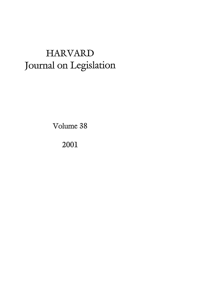handle is hein.journals/hjl38 and id is 1 raw text is: HARVARD