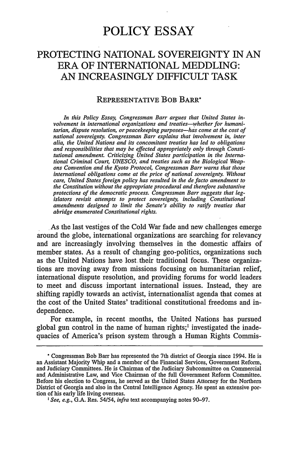 handle is hein.journals/hjl39 and id is 305 raw text is: POLICY ESSAY