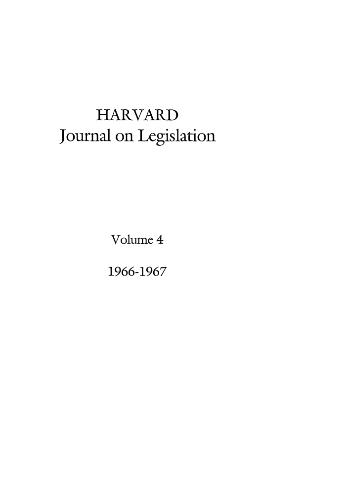 handle is hein.journals/hjl4 and id is 1 raw text is: HARVARD