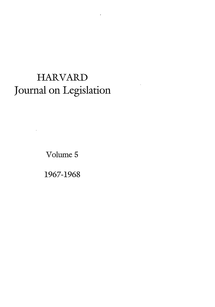 handle is hein.journals/hjl5 and id is 1 raw text is: HARVARD