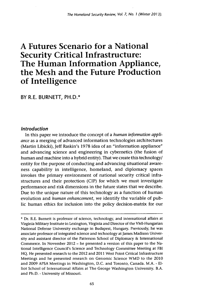 handle is hein.journals/homlndsr7 and id is 71 raw text is: The Homeland Security Review, Vol. 7, No. 1 (Winter 2013).