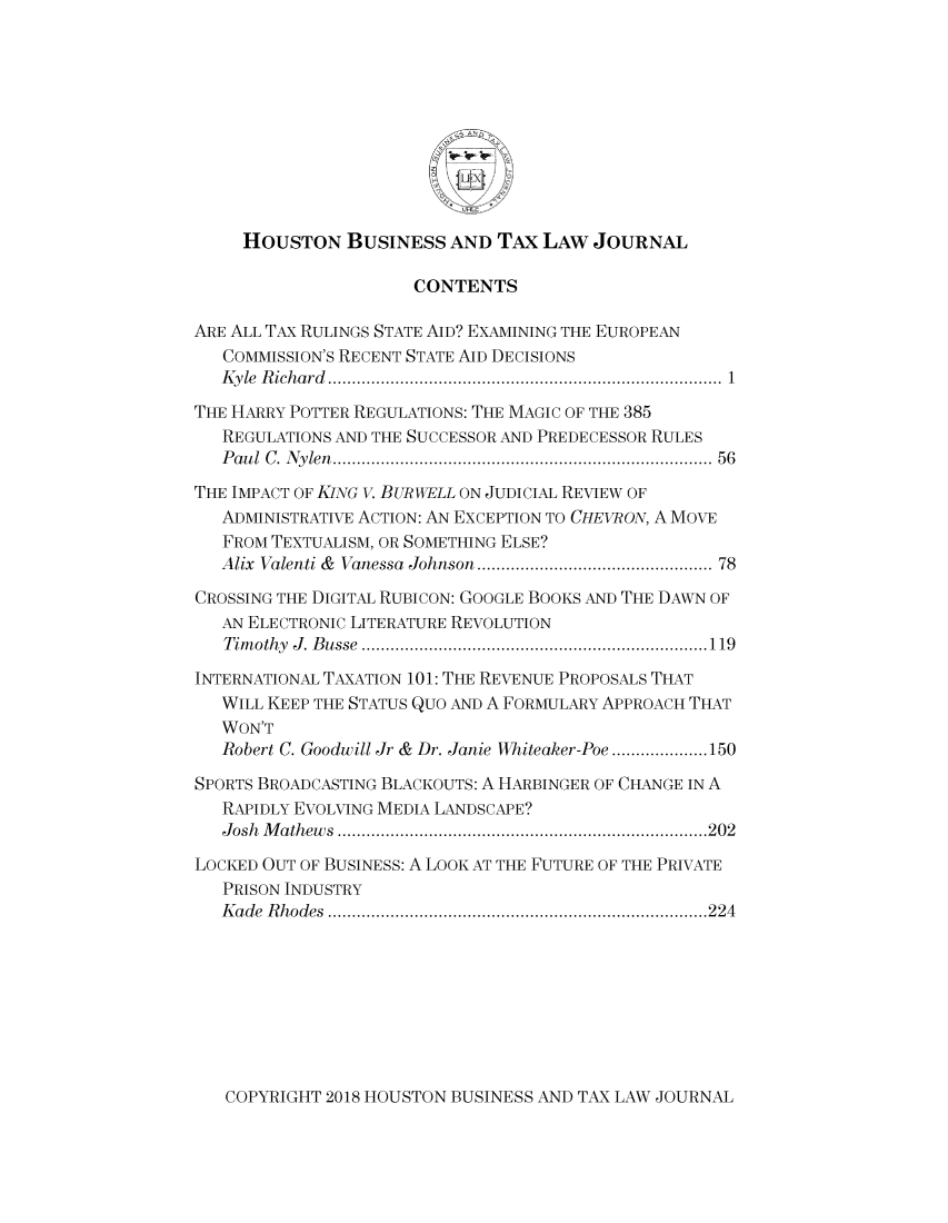 handle is hein.journals/houbtalj18 and id is 1 raw text is: 