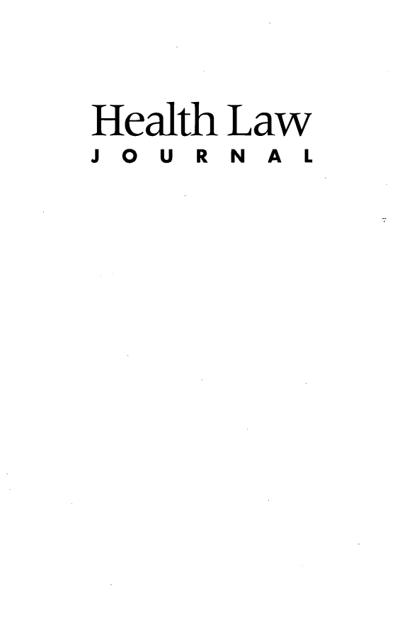 handle is hein.journals/hthlj21 and id is 1 raw text is: Health Law