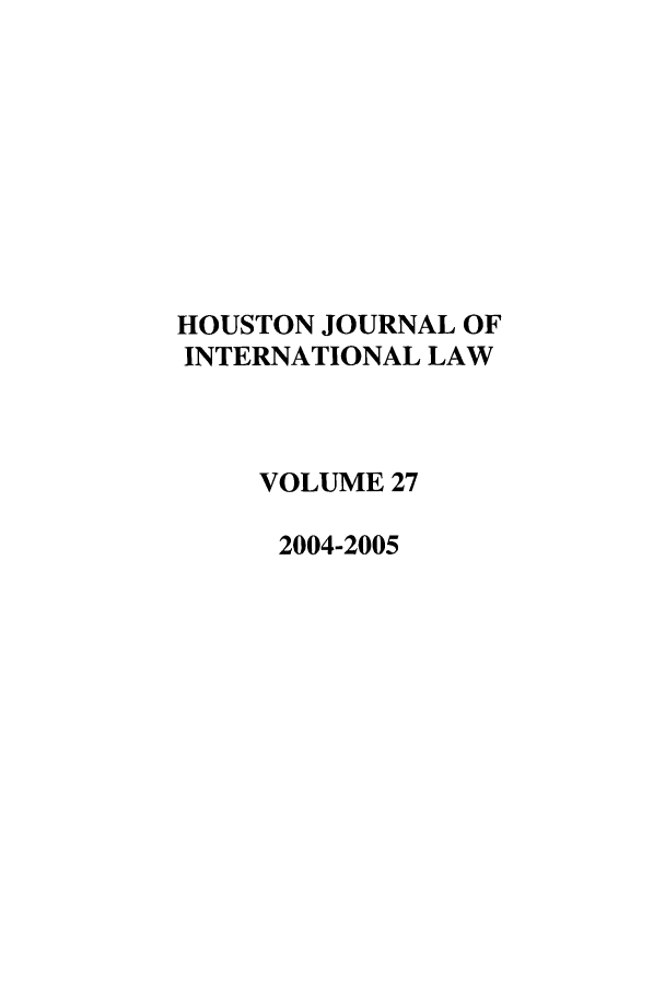 handle is hein.journals/hujil27 and id is 1 raw text is: HOUSTON JOURNAL OF