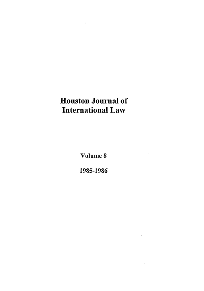 handle is hein.journals/hujil8 and id is 1 raw text is: Houston Journal of