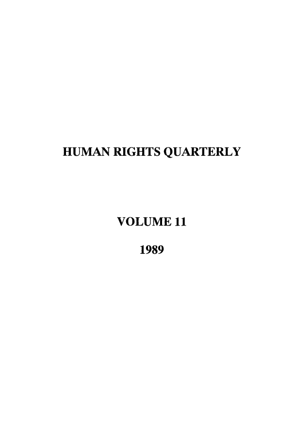 handle is hein.journals/hurq11 and id is 1 raw text is: HUMAN RIGHTS QUARTERLY