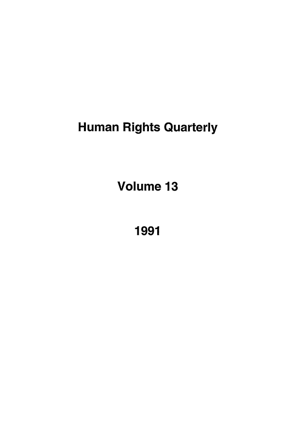handle is hein.journals/hurq13 and id is 1 raw text is: Human Rights Quarterly