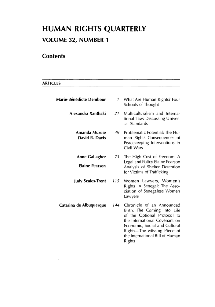handle is hein.journals/hurq32 and id is 1 raw text is: HUMAN RIGHTS QUARTERLY