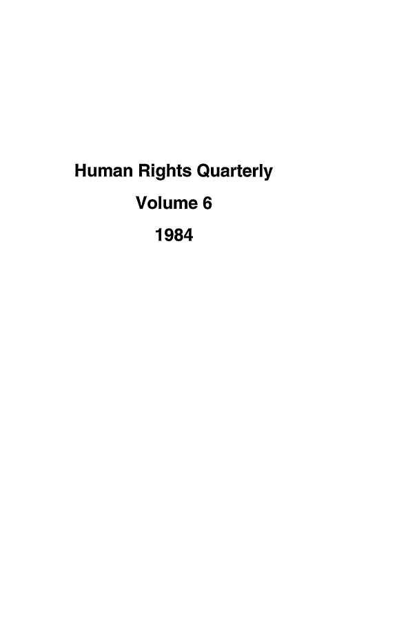 handle is hein.journals/hurq6 and id is 1 raw text is: Human Rights Quarterly