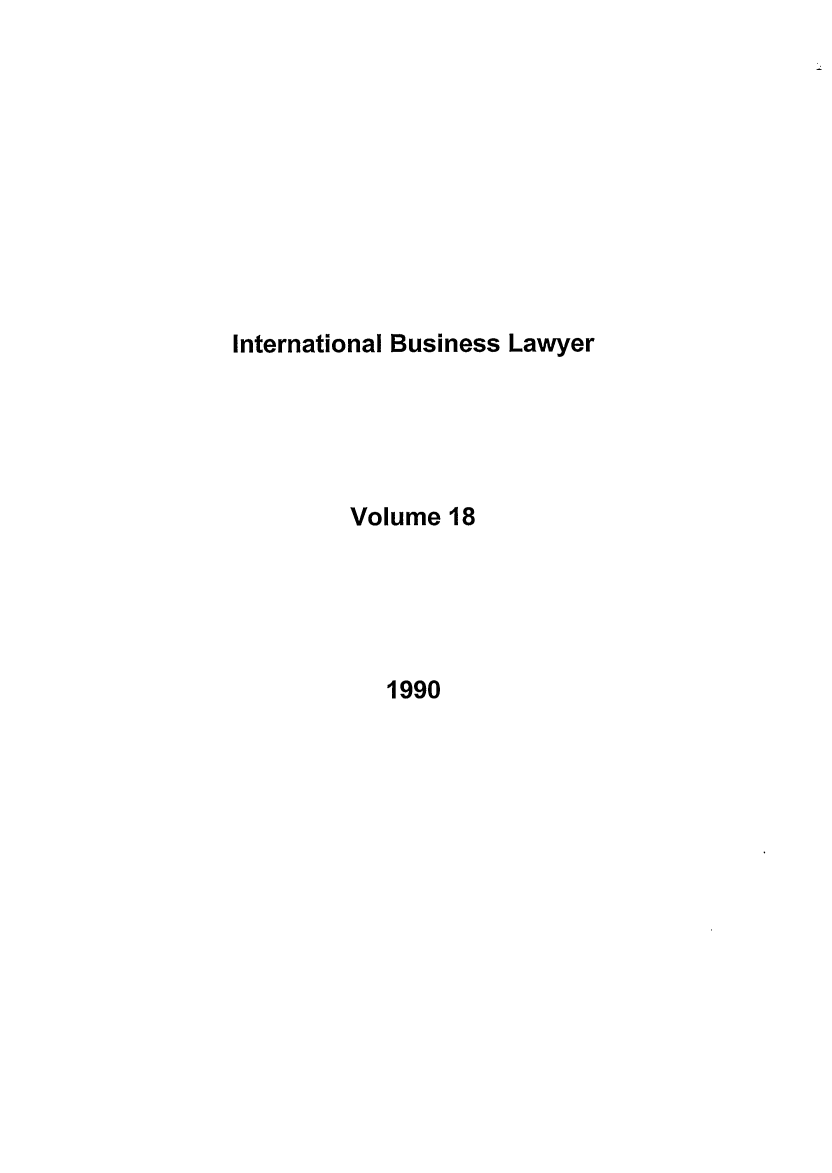 handle is hein.journals/ibl18 and id is 1 raw text is: International Business Lawyer
