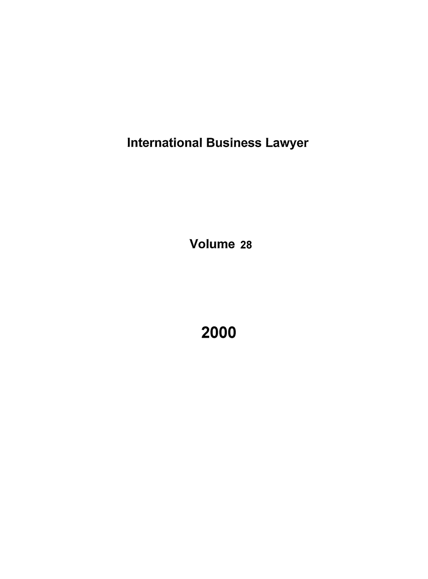 handle is hein.journals/ibl28 and id is 1 raw text is: International Business Lawyer