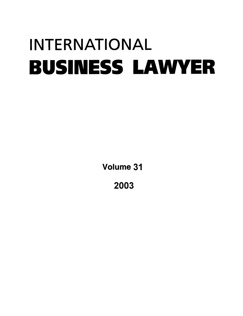 handle is hein.journals/ibl31 and id is 1 raw text is: INTERNATIONAL