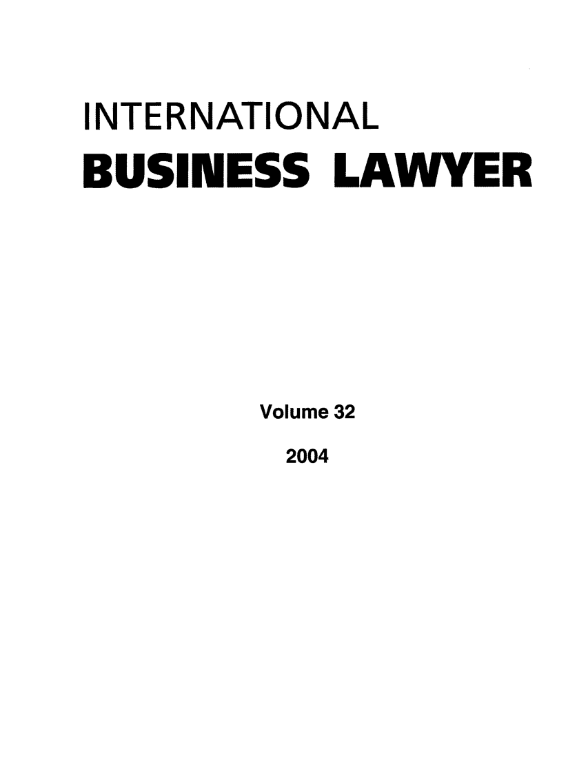 handle is hein.journals/ibl32 and id is 1 raw text is: INTERNATIONAL